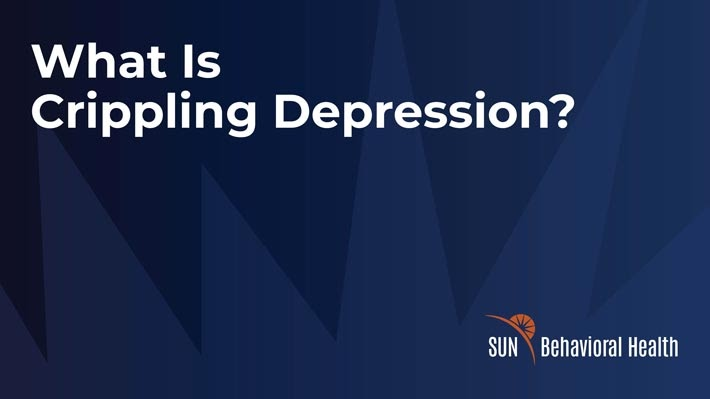 What is crippling depression?